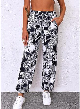 Halloween Print Long Casual Pants
