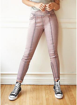 Patchwork Sexy Vintage Denim & Jeans