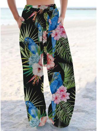 Print Pockets Boho Casual Lounge Pants