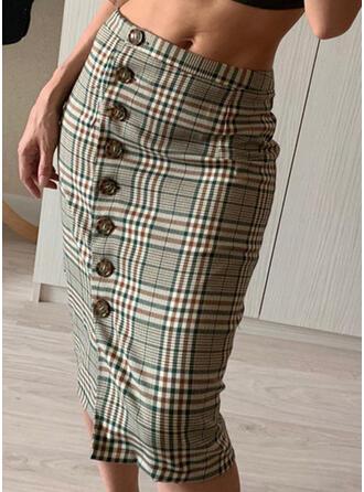 Plaid Knee Length Vintage
