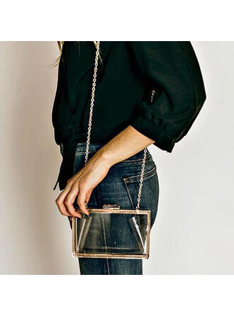 Refined/Transparent/Solid Color Crossbody Bags