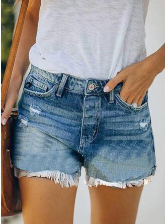 Plus Size Tassel Sexy Denim Shorts
