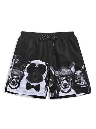 Men's Print Lined Board Shorts