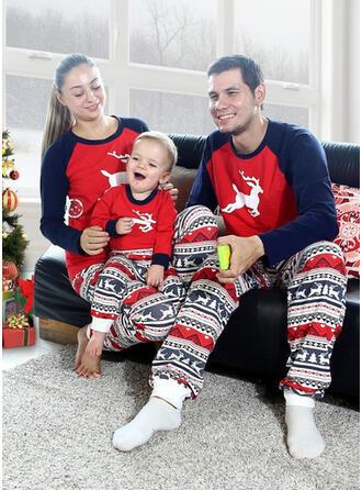 Reindeer Color-block Family Matching Christmas Pajamas
