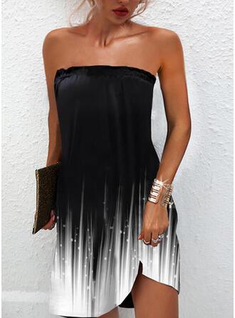 Impresión/Degradada Sin mangas Vestidos sueltos Sobre la Rodilla Casual Vestidos
