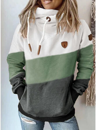 Color Block Long Sleeves Hoodie