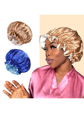 Women's Elegant/Charming/Artistic Faux Leather With Flax Hair Bonnet