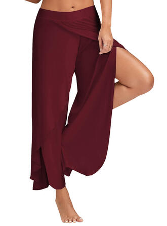 Solid Color Sports Pants