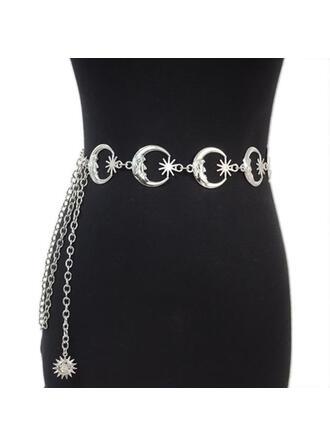 Casual Elegante Fivela redonda Metal Correia de Corrente ()