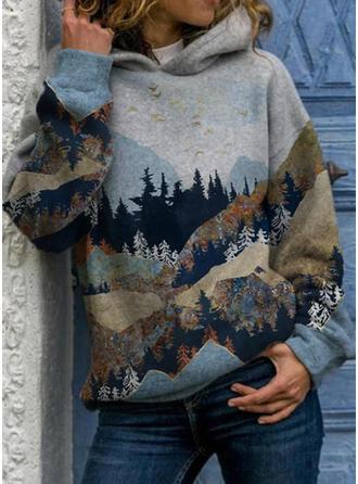 Imprimé Forêt Manches Longues Sweat-shirt