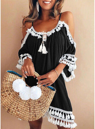 Strap Round Neck Plus Size Casual Cover-ups Swimsuits