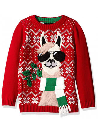 Unisex Polyester Animal Print Ugly Christmas Sweater