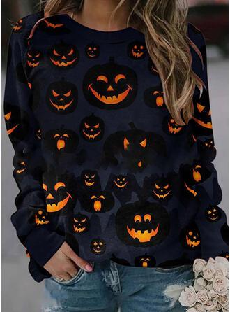 Halloween Imprimé Col Rond Manches Longues Sweat-shirts