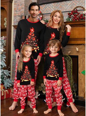 Carta Estampado Família Combinando Natal Pijama