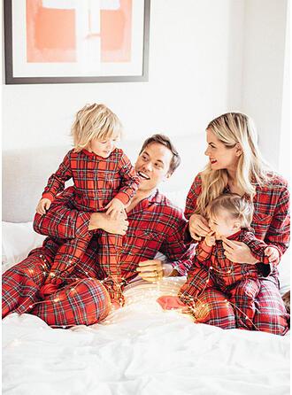 Carreaux Tenue Familiale Assortie Pyjamas