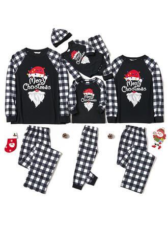Plaid Letter Tenue Familiale Assortie Pyjama De Noël