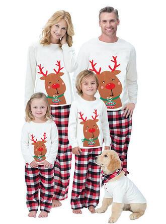 Renne Carreaux Imprimé Tenue Familiale Assortie Pyjama De Noël