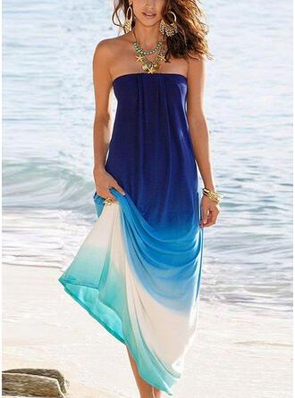 Gradient Sleeveless Shift Vacation Maxi Dresses