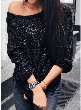 Cold Shoulder Casual Sweaters