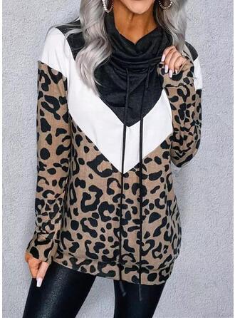 Leopardo Capucha Manga Larga Sudadera de navidad