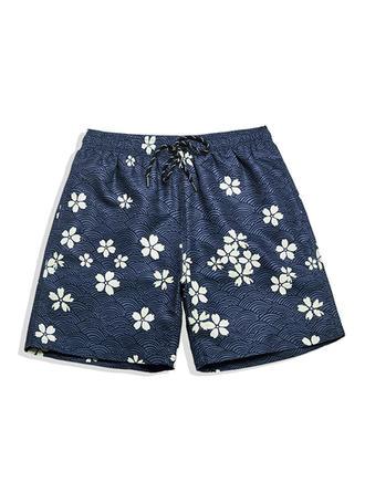 Men's Floral Lined Board Shorts