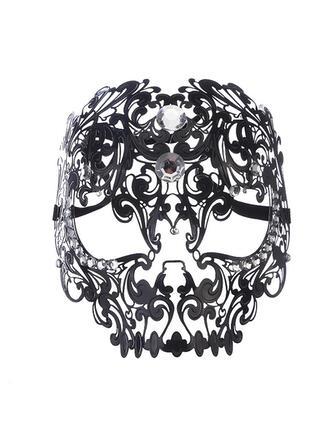 Style Vintage Effroyable Exotique l'Halloween Fantôme Des bonbons ou un sort Métal Accessoires d'Halloween Masque