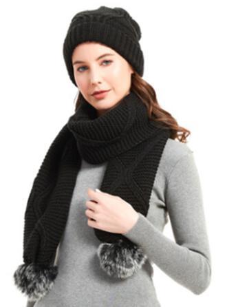 Crochet Chaud/Tie-Dye/Doux Pour La Peau/Style Simple/Doux Écharpe/Chapeaux 2 PCS