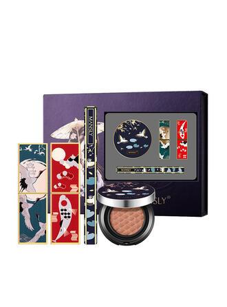4 PCS Matte Waterproof Brighten Oil control Lipsticks Eyeliner BB & CC Cream With Box