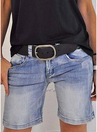Denim Above Knee Casual Vintage Pocket Pants Shorts Denim & Jeans