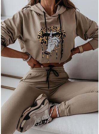 Animal Casual camisolas & Roupas de Duas Peças Set ()