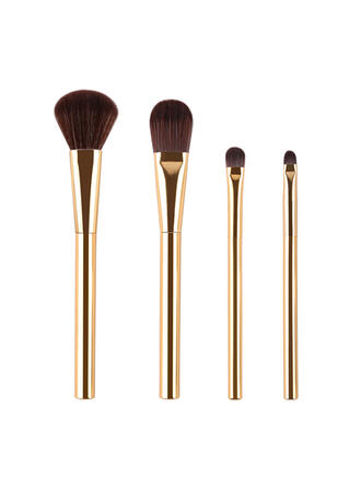 4 PCS Two Tone Handle Plain Nylon Makeup brush sets