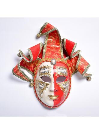 Style Vintage Effroyable Exotique l'Halloween Fantôme Des bonbons ou un sort Tissu PP Accessoires d'Halloween Masque