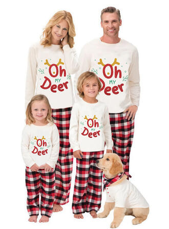 Xadrez Carta Estampado Família Combinando Natal Pijama