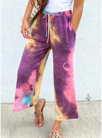 Tie Dye Drawstring Casual Print Lounge Pants